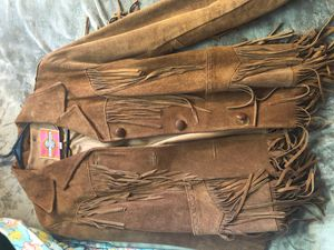 Real Ms. Pioneer Brown Fringe Leather Jacket for Sale in Fairfield, CA