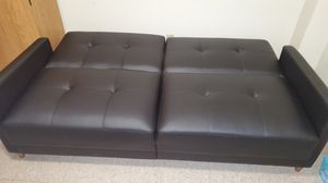 Black pleather sofa for Sale in Manchester, NH
