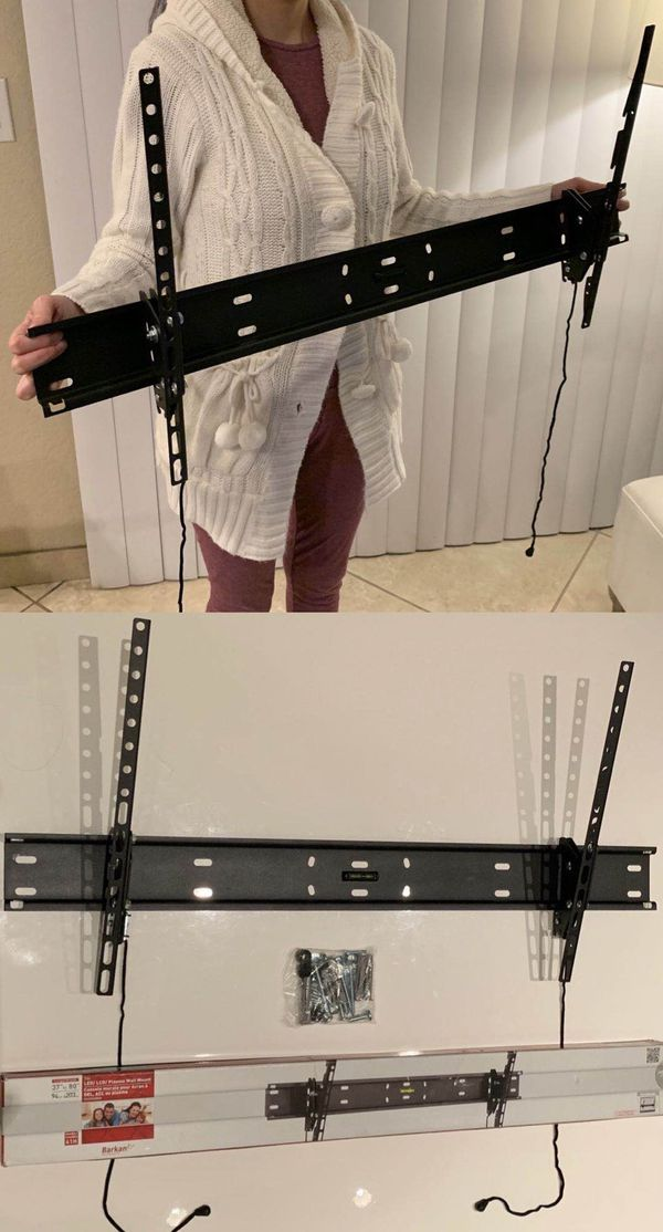 """NEW 37 40"""" 42"""" 46 50 52"""" 55 60"""" 70 75"""" 80 inches tilt tilting tv television wall mount bracket 110 lbs capacity"""