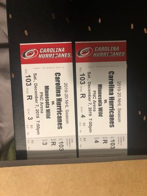2 Carolina Hurricane tickets for Sale in Jacksonville, NC