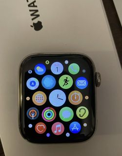 Series 5 Stainless Steel Apple Watch With Box 44mm With AppleCare Warranty for Sale in Washington,  DC