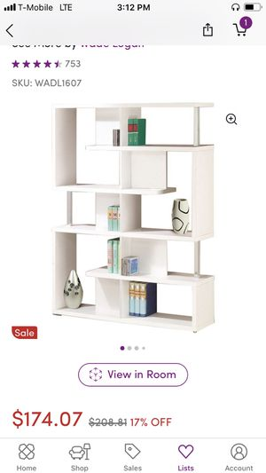 White bookcase for Sale in Saint Paul, MN