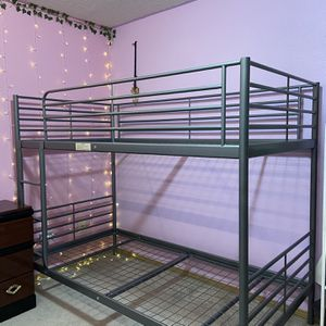 IKEA - SVARTA Bunk bed frame + 2 MOSHULT Foam mattresses for Sale in Happy Valley, OR