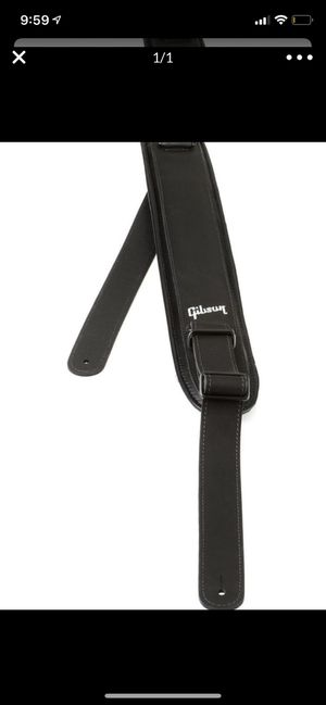 Gibson leather guitar strap for Sale in Norman, OK