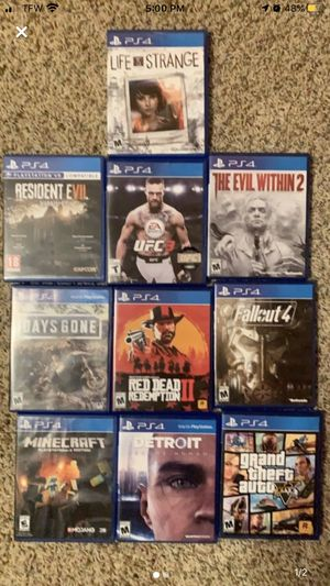 Ps4 games for sale $10 a pice or 80 for all for Sale in Parsons, KS