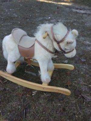 Cute rocking horse.. press ear makes galloping noise for Sale in Dublin, GA