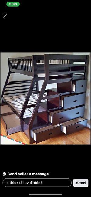 🚨 Espresso Twin/Full Bunk Bed 🚨 for Sale in Granite Bay, CA
