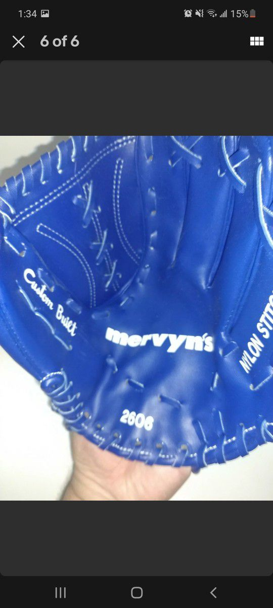 VINTAGE DODGERS Blue Giveaway Fielding Glove Mit From The 1980's Mervyn's youth