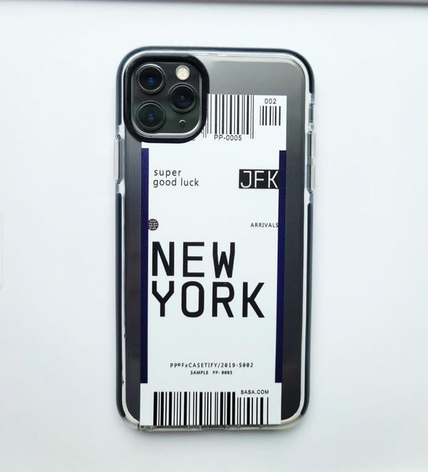 IPHONE 11 PRO MAX NEW YORK PLANE TICKET CASE