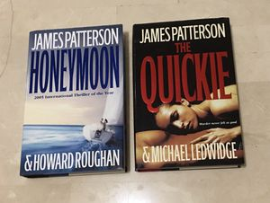 2 James Patterson hard bound books for Sale in Houston, TX