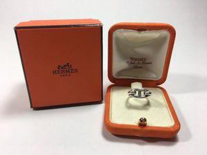 Vintage Hermès sterling silver H Charm Farandole Chaine d'Anecre horse bit ring for Sale in Salt Lake City, UT