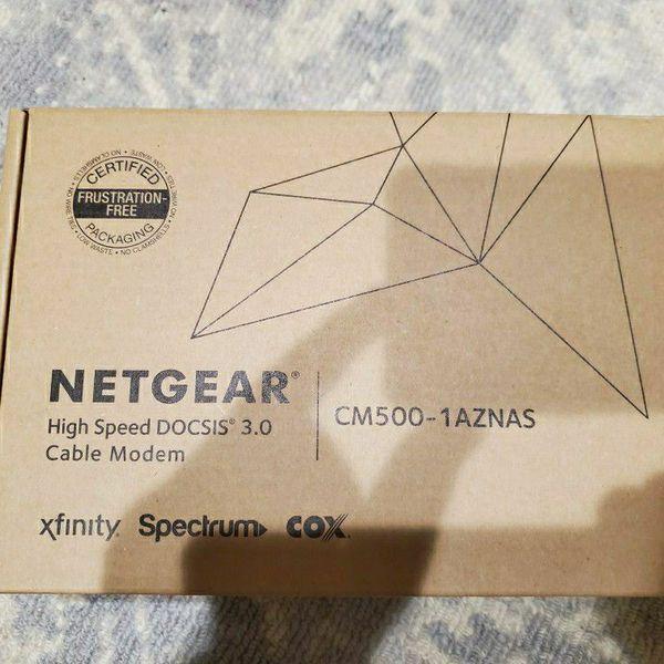 NETGEAR High Speed DOCSIS 3.0 Cable Modem CM500-1AZNAS