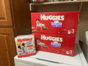 Huggies Sze 3 Bundle 168 Diapers/ 192 Wipes - PRICE IS FIRM for Sale in Gilbert, AZ