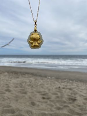 Handcrafted 24K gold necklace on jade stone for Sale in Los Angeles, CA