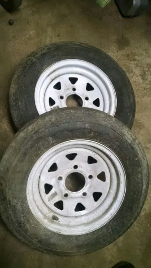 Trailer tires with rims 5.3-12 inch for Sale in Columbus, OH
