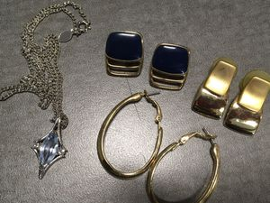 TRIFARI Post Earrings and Vintage Necklace for Sale in Parma Heights, OH