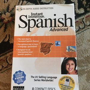 Instant Immersion Spanish Tutor/ Training / Learning , Advanced. 8 CDs. Never Used $15 OBO for Sale in Huntington Beach, CA