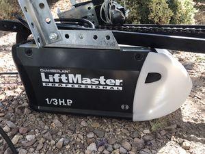Lift Master 1/3 HP garage door opener & one remote for Sale in Las Vegas, NV