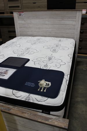 Queen Bed Frame,**MATTRESS INCLUDED** Whitewash, #B267 for Sale in Downey, CA