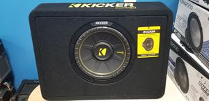 "Kicker CompC 10"" subwoofer in truck enclosure 600 watts. for Sale in Philadelphia, PA"