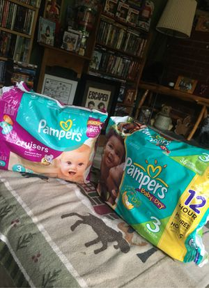 2 Opened Bags of Size 3 Pampers !! for Sale in Berlin, CT