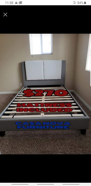 BRAND NEW BED FRAME QUEEN COMES IN BOX 📢📢📢📢📢WITH MATTRESS INCLUDED 📢📢📢📢📢📢📢AVAILABLE FOR SAME DAY DELIVERY OR PICK UP for Sale in Compton, CA
