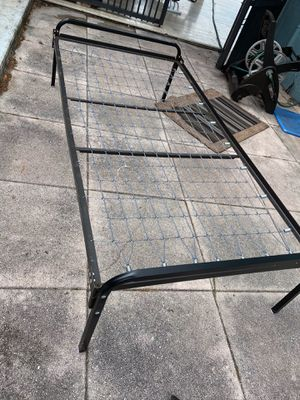 FREE Metal bed frame, twin size for Sale in Davie, FL