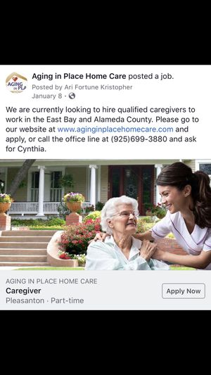 Caregiver needed for Sale in Livermore, CA