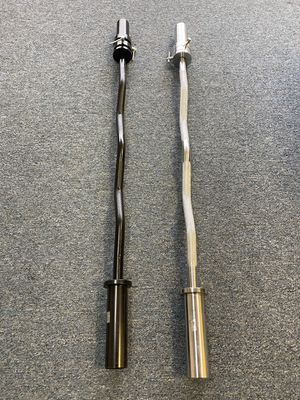Brand new in box Olympic curl bar ! Black or chrome for Sale in Wallingford, CT