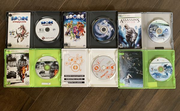 Games Xbox 360/Pc/Wii 1 game for $6 or all for $30