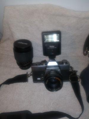 Minolta SRT 201 Film Camera with Vivitar auto thyristor 225 for Sale in Spring Hill, FL