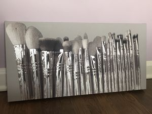 Makeup brush silver on canvas for Sale in Brooklyn, OH