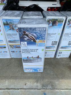 Intex 12x30 Prism Frame Premium Pool for Sale in Fairfax,  VA
