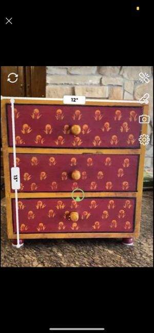 Wooden 3 drawer organizer for Sale in Floral Park, NY