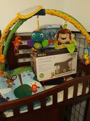 Crib+mattress+activity gym+ babycook new+ mobile for Sale in Miami, FL