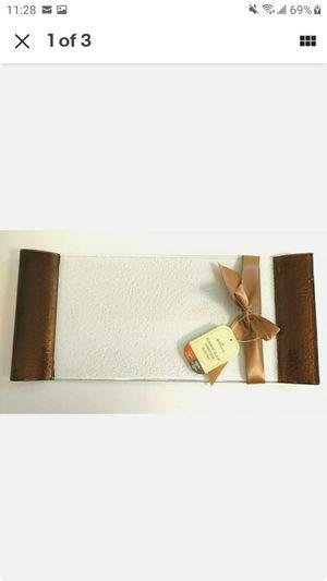 Hallmark Fall 🍁 Harvest rectangular glass appetizer/treats serving tray for Sale in Glendora, CA