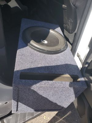 Speakers 12 inchs mark re audio 1000 rms working good speakers for Sale in Seattle, WA