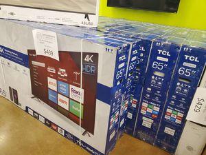 """TCL 65"""" 4k UHD Roku TV for Sale in El Monte, CA"""
