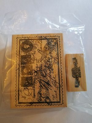 Postal themed rubber stamp set for Sale in Chicago, IL