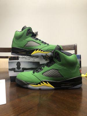 "Jordan 5 Retro ""Oregon"" Apple Green Size 8.5 for Sale in Puyallup, WA"