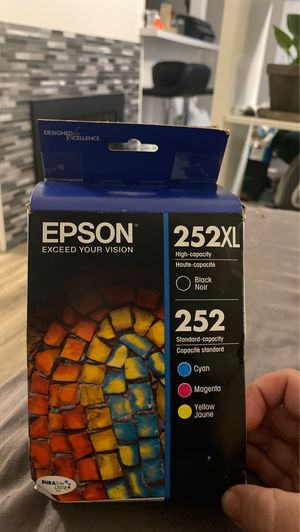 252 XL black and color ink for Sale in Sacramento, CA