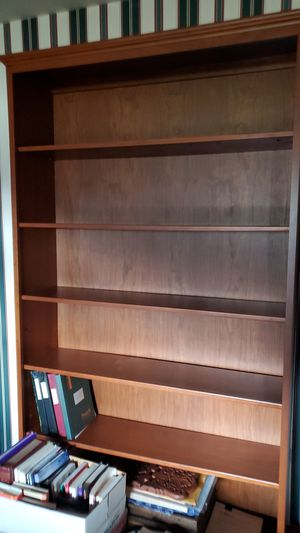 """Cherry book case 7' tall 46"""" wide 6 shelves for Sale in North Canton, OH"""