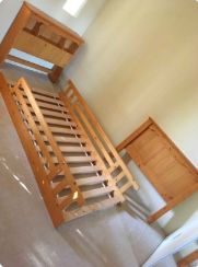 Wooden Twin-Sized Bed Frame With attached Headboard Compartment! for Sale in San Jose, CA