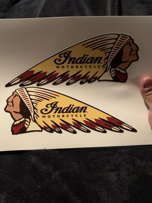 Indian motorcycle decal sticker for Sale in Costa Mesa, CA