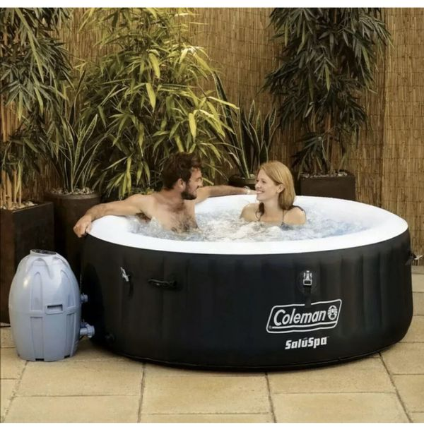 """Coleman Saluspa 71"""" x 26"""" Havana AirJet Inflatable Hot Tub with Remote Control, 2-4 person"""