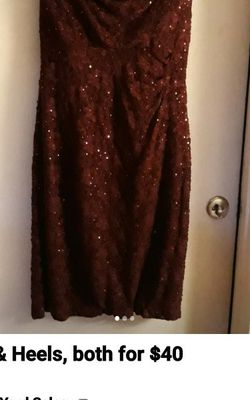 Women's Burgundy Dress & Matching Shoes for Sale in Coyote,  CA