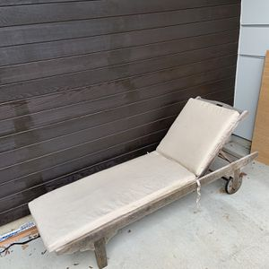Teak Lounge Chair And Cushion for Sale in Seattle, WA