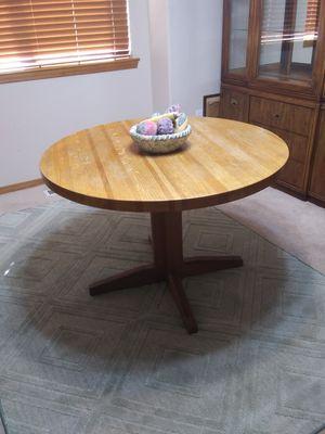 Solid Oak butcher block round kitchen table for Sale in Everett, WA