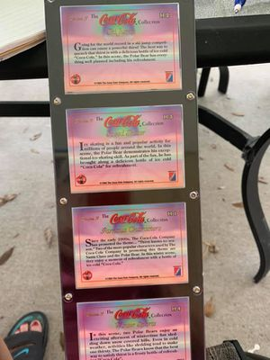 4 Card Coca-Cola hold gram cards for Sale in Lakeland, FL
