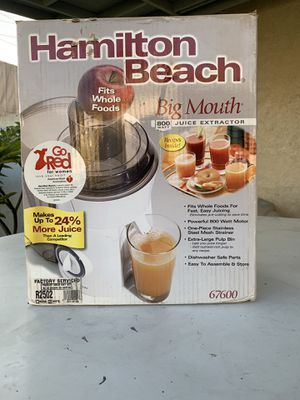 Hamilton Beach Big Mouth Juice Extractor for Sale in West Covina, CA